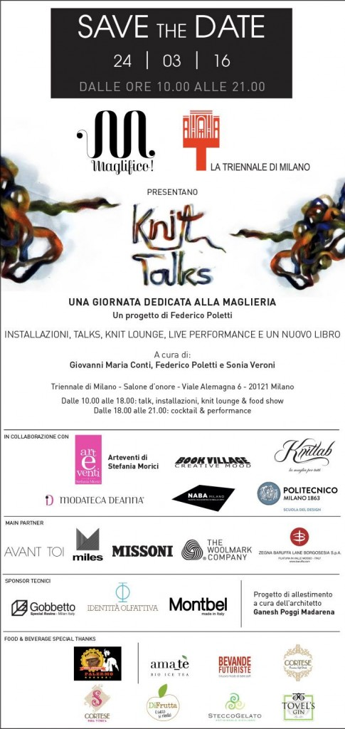 Save The date - Maglifico Knit Talks @ Triennale Milano