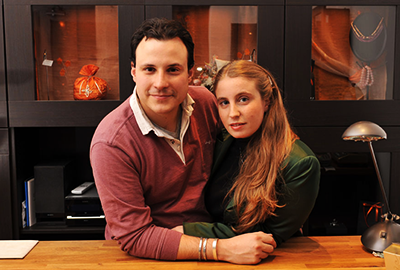 Luca Marsiliani e Silvia Mariani di Les Creations